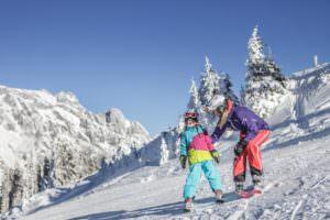 Family skiing Hochkonig